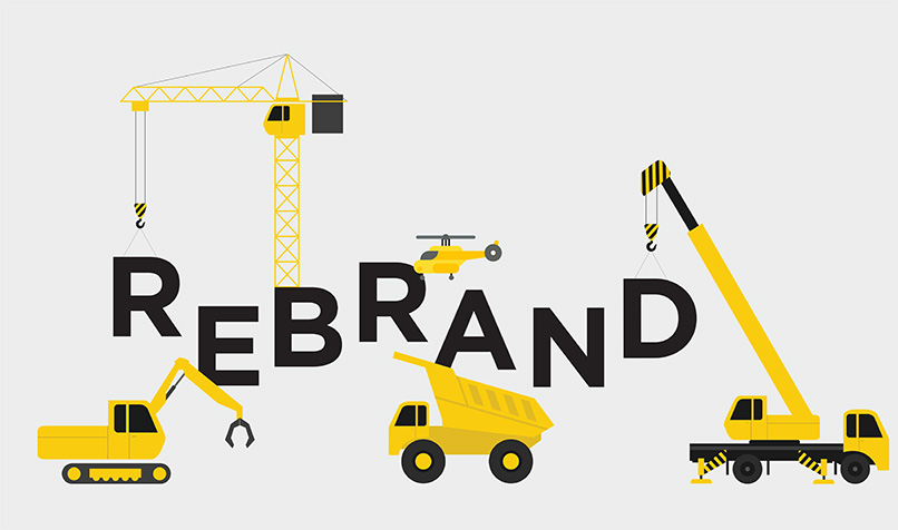 Rebrand trucks diggers